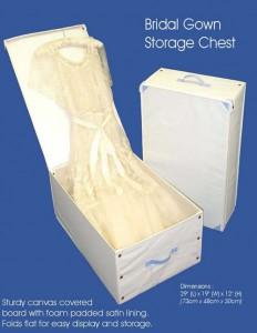 bridal gown box
