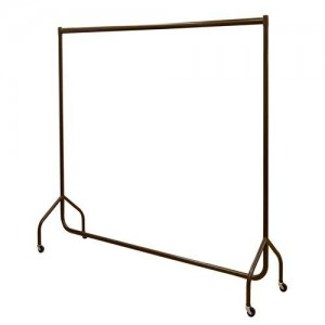 Chocolate brown deluxe garment rail