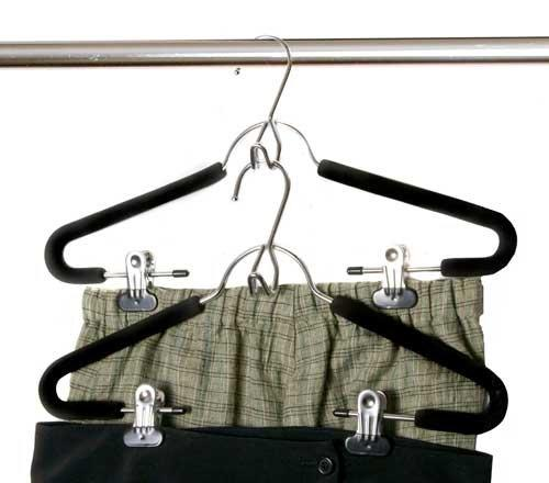 Space Saving Hanger for Trousers / Suit