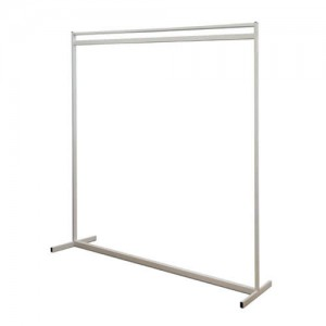 Extra High White Garment Rail