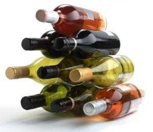 funky wine rack